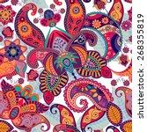 paisley seamless pattern.... | Shutterstock . vector #268355819