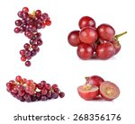 Set Of Grapes Isolated On Over...