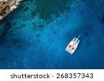 amazing view to catamaran... | Shutterstock . vector #268357343
