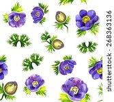 elegance floral seamless... | Shutterstock .eps vector #268363136
