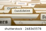 candidates concept with word on ... | Shutterstock . vector #268365578