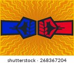 clashing fists  two opposite... | Shutterstock .eps vector #268367204