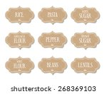 cardboard food labels or... | Shutterstock .eps vector #268369103