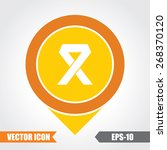 ribbon  icon on map pointer.... | Shutterstock .eps vector #268370120