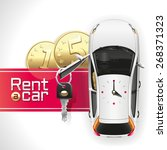 white car with an open driver's ... | Shutterstock . vector #268371323