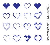 abstract hearth icon set | Shutterstock .eps vector #268373438