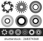 set of 6 abstract circular ...