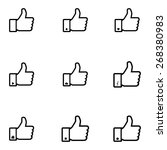 thumb up. set | Shutterstock .eps vector #268380983