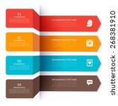 arrow elements for infographics.... | Shutterstock .eps vector #268381910
