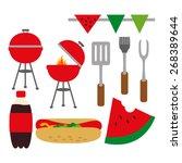 bbq party vector. | Shutterstock .eps vector #268389644