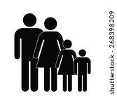 family icon | Shutterstock .eps vector #268398209