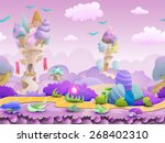 seamless cartoon fairytale... | Shutterstock .eps vector #268402310