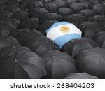Umbrella With Flag Of Argentina ...