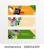 set of banners with stickers ... | Shutterstock .eps vector #268416344