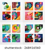 flat design vector geometric... | Shutterstock .eps vector #268416560