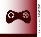 gamepad icon. vector. flat...