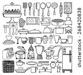 hand drawn cooking tools on