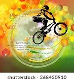 bmx biker. vector | Shutterstock .eps vector #268420910