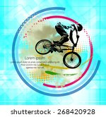 bmx biker. vector | Shutterstock .eps vector #268420928
