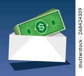 cash money  vector illustration | Shutterstock .eps vector #268424309