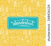 vector wanderlust logo   travel ... | Shutterstock .eps vector #268426124