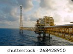 offshore oil and rig platform... | Shutterstock . vector #268428950