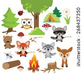 forest camp fire vector... | Shutterstock .eps vector #268437350