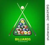 Background With Billiards Balls ...