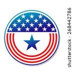 patriotic american stars and... | Shutterstock . vector #268442786