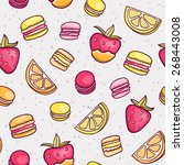 vector seamless pattern with... | Shutterstock .eps vector #268443008