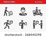 delivery man icons.... | Shutterstock .eps vector #268444298