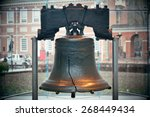 Liberty bell and independence...