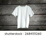 t shirt on a hanger | Shutterstock . vector #268455260