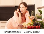 women in the kitchen   Shutterstock . vector #268471880