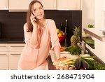 women in the kitchen   Shutterstock . vector #268471904