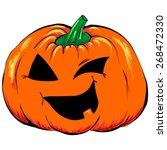 halloween creepy jack o lantern ... | Shutterstock .eps vector #268472330