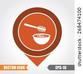 honey   deeper icon on map... | Shutterstock .eps vector #268474100