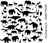 animals and birds silhouettes... | Shutterstock .eps vector #268475030