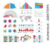 set elements of infographics | Shutterstock .eps vector #268475594