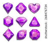 set of violet crystals with...
