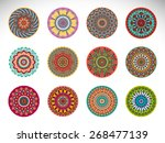 mandalas collection. round... | Shutterstock .eps vector #268477139