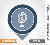 globe icon on map pointer. eps. ... | Shutterstock .eps vector #268479050