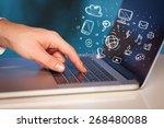 hand writing on notebook... | Shutterstock . vector #268480088