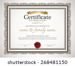 certificate design template. | Shutterstock .eps vector #268481150