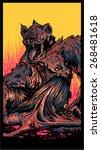 hyena feast | Shutterstock .eps vector #268481618
