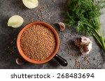 buckwheat ina bowl with dill ...