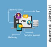 crm customer relationship... | Shutterstock .eps vector #268486364