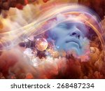 dream wave series. abstract... | Shutterstock . vector #268487234