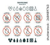 diet icons and labels  food... | Shutterstock .eps vector #268489763