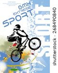 bmx rider. vector design. | Shutterstock .eps vector #268490840